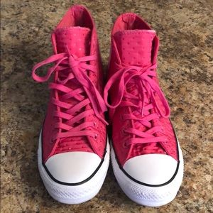 Converse High Top Neoprene Vivid Pink Size 9